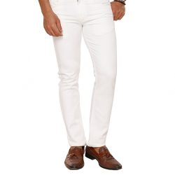 Buy White Cotton Trousers at M Baazar