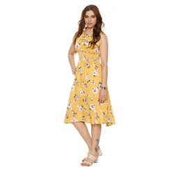 Buy Stylish Yellow Frock for Girls at M Baazar