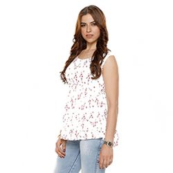 Buy White Top for Girls at M Baazar
